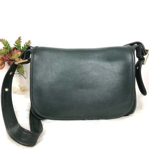 Vintage Coach Patricia's Legacy Green Leather Bag